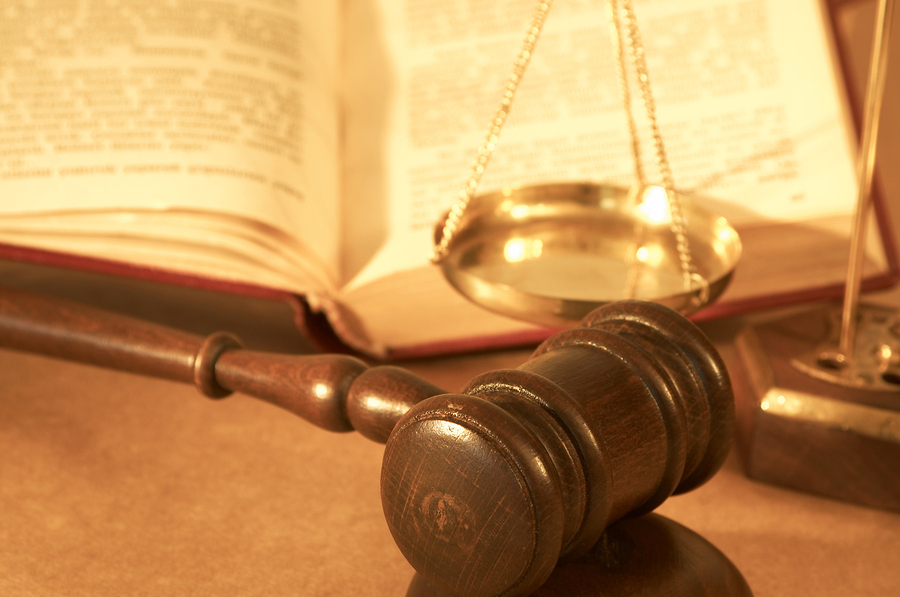 A judges gavel on a table before he handles a probate hearing