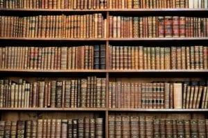 Illinois Law books line a book shelf
